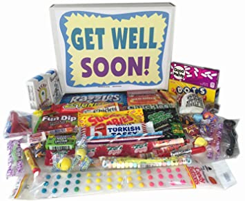 amazon com woodstock candy get well soon gift box feel better