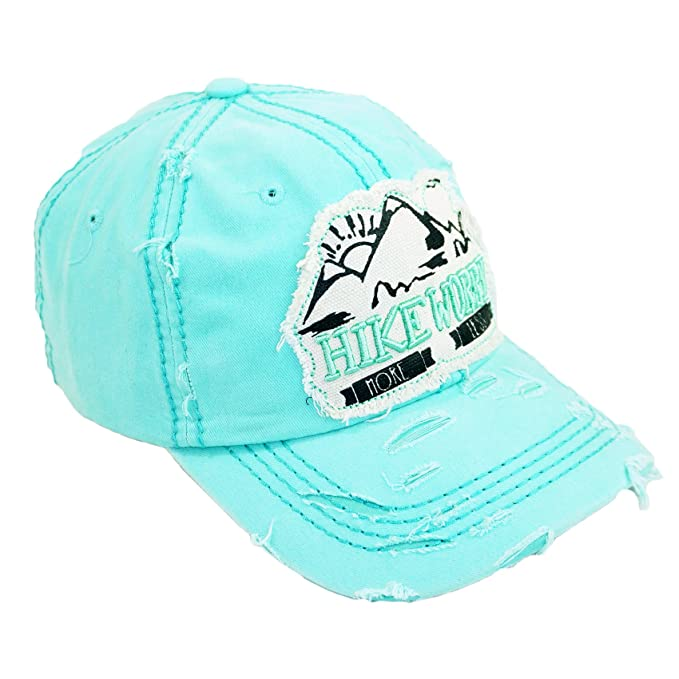 Hike More Worry Less Embroidery Vintage Hat Adjustable Mountain Washed Baseball  Cap (Mint) at Amazon Men s Clothing store  9f96ab951efc