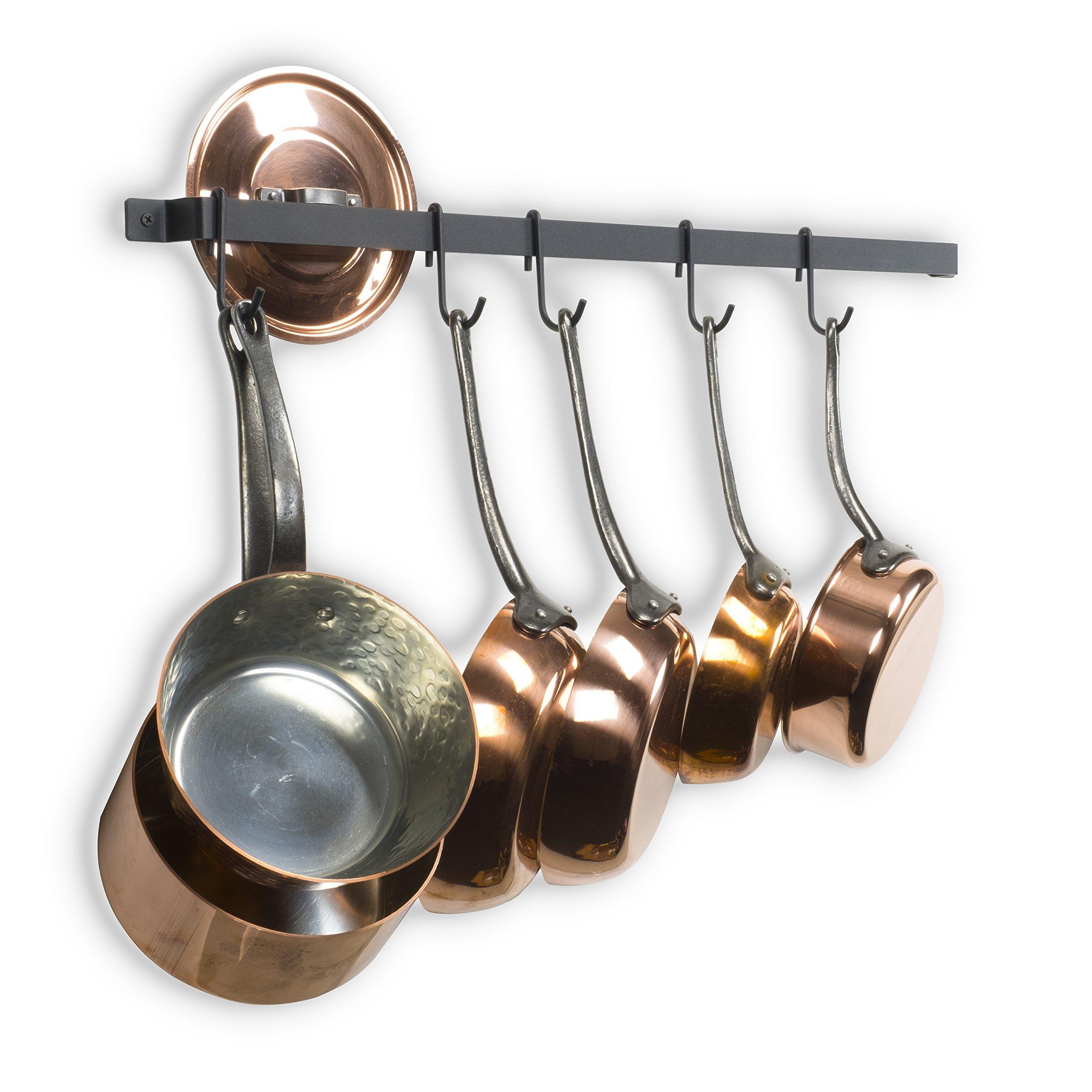 Kitchen Design Hanging Pots And Pans: Cookware Wall Mount Hanging Pot Pan Rack Kitchen Organizer