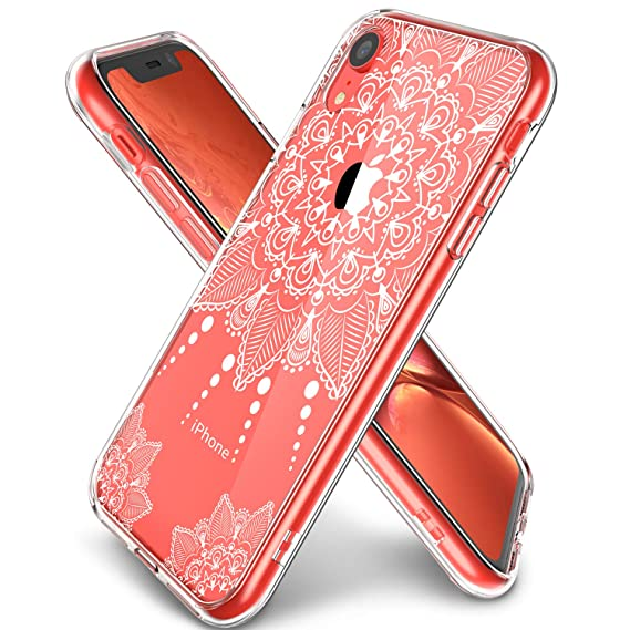 the best attitude e5e89 2c23a iPhone XR Case Clear, LUHOURI Girls Women Heavy Duty Protective Hard PC  Back Case with Slim Soft TPU Bumper Cover Phone Case for iPhone XR, White  ...