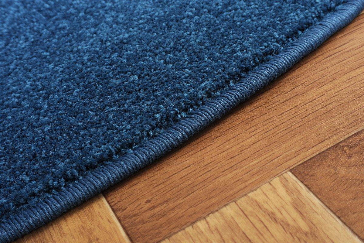 Havatex Havatex Havatex Teppich Kräusel Velour Burbon rund - 16 moderne sowie klassische Farben   schadstoffgeprüft pflegeleicht & robust   ideal für Wohnzimmer, Farbe Rot, Größe 180 cm rund B075CX943C Teppiche ae96fa