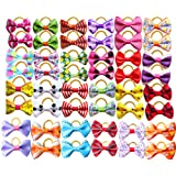 Yagapet 40pcs/20pairs Dog Hair Bows Topknot Small Bowknot with Rubber Bands Top Quality Pet Grooming Products Pet Hair Bows Dog Hair Accessories