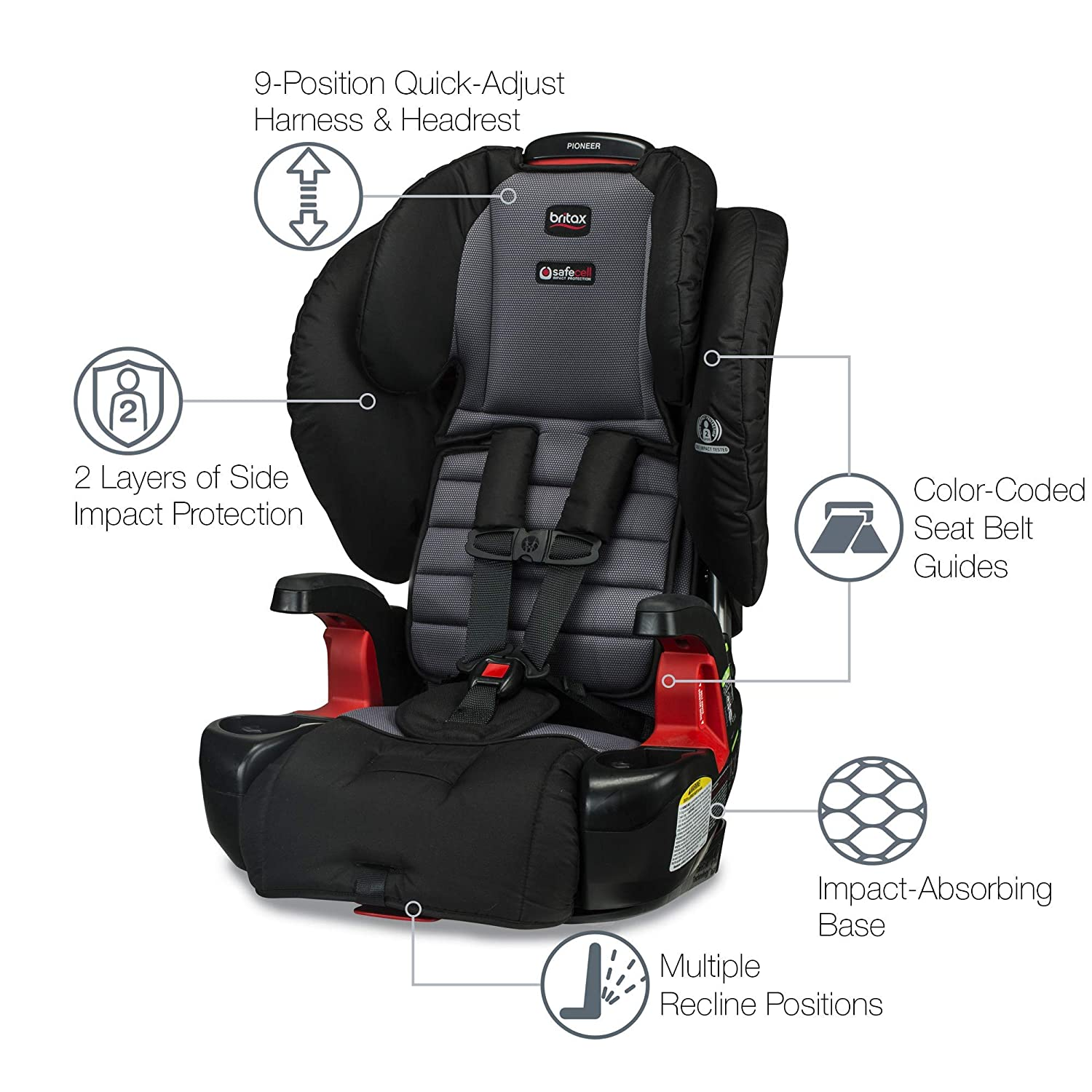 Amazon Britax Pioneer Combination Harness 2 Booster Car Seat Ashton Baby