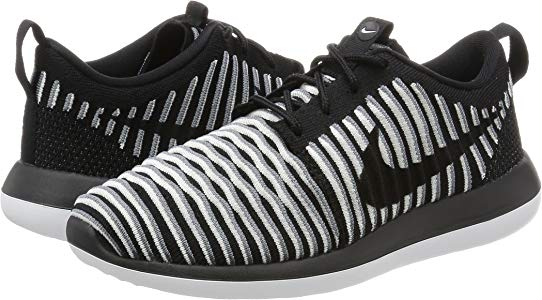 new concept finest selection wholesale online Nike Women's W Roshe Two Flyknit Running Shoes, Black-White-Cool ...