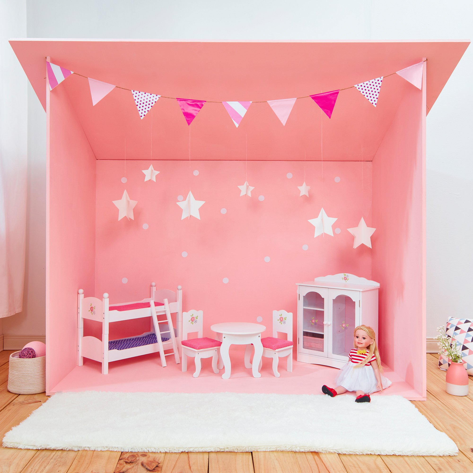 Olivia S Little World Princess Double Bunk Bed White