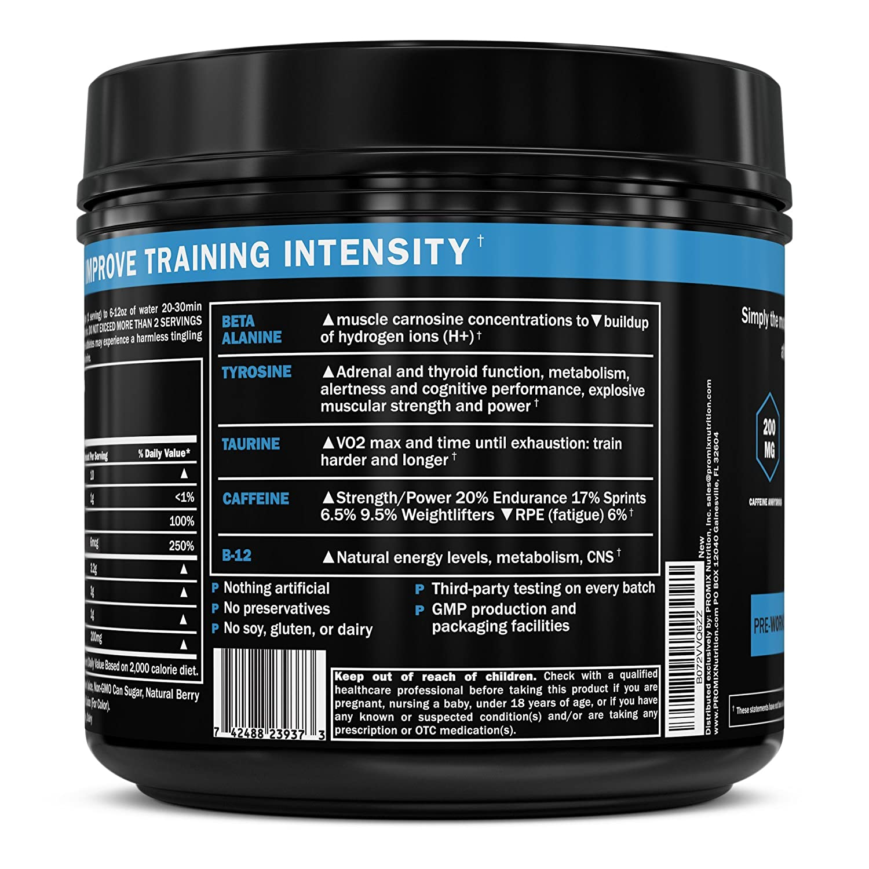 Pre Workout Powder Supplement Natural Energy Focus Keto PROMIX Performance  I Men & Women