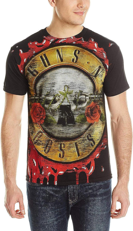 Skyey Camiseta gráfica Guns N Roses Bloody Bullet Print para ...