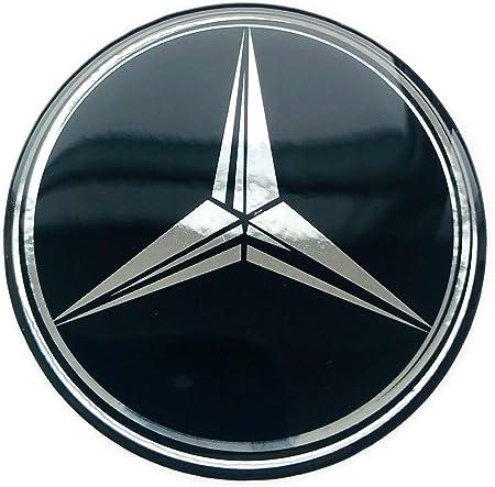 Logoembl Aufkleber 4 X 55 Mm Embleme Kompatibel Mit Mercedesbenz Radkappen Nabenkappen Nabendeckel Silikon Auto