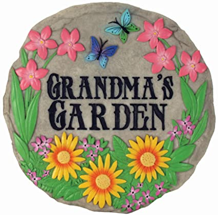Spoontiques Grandmau0027s Garden Stepping Stone
