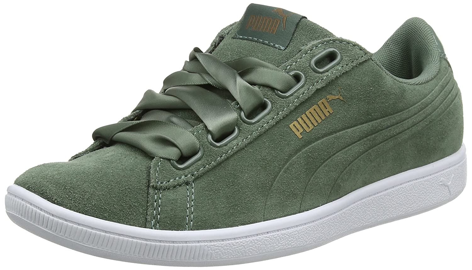Puma Women s Vikky Ribbon Sd P Low-Top Sneakers  Amazon.co.uk  Shoes   Bags 15ad955d4