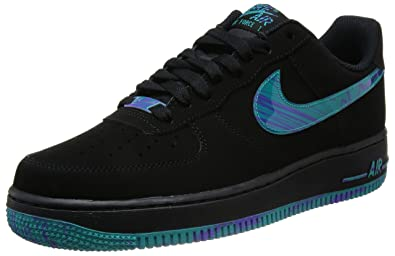 sports shoes 4ba56 25648 Nike Air Force 1 Schuhe black-turbo green-purple venom - 42