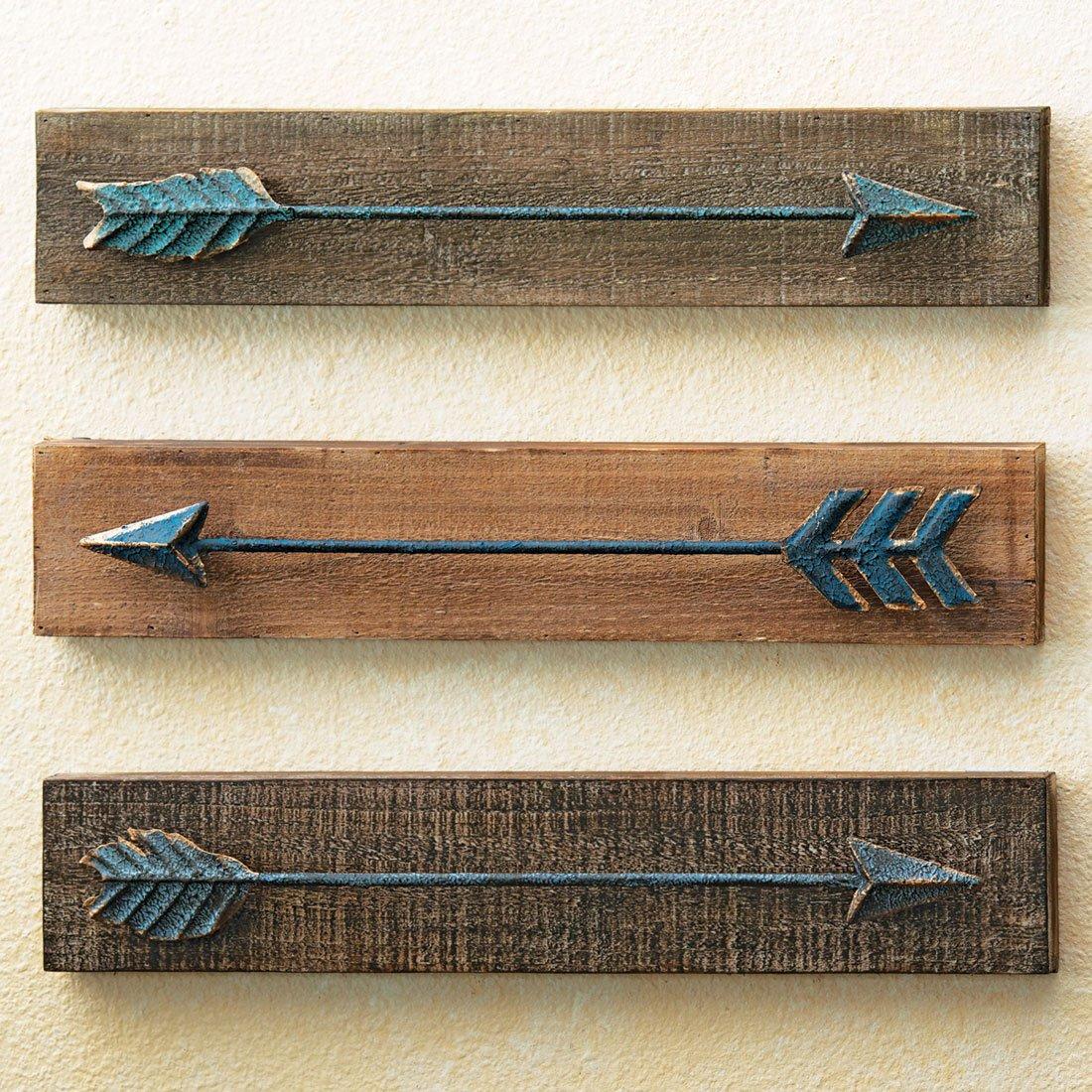 メタル&木製矢印壁Hangings – 3のセット B074XSV7J1