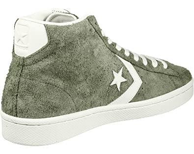 dfc1873793f Converse PRO Leather MID Mens Skateboarding-Shoes 157690C 7.5 - Medium Olive