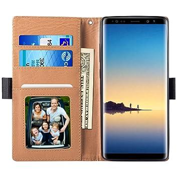 Melojoy Etui Samsung Galaxy Note 8, Housse Pochette en Cuir à Rabat  Portefeuille Support intégré d2fbd0ca51d