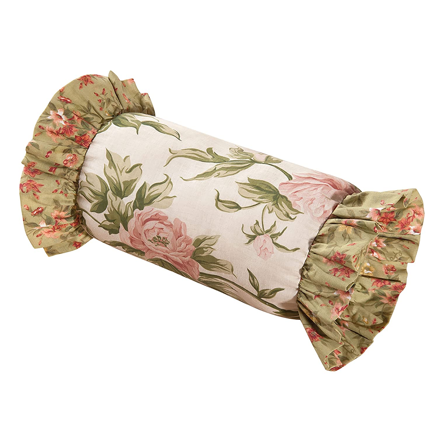 C and F Enterprises Garden Dream 16 x 16 in. Ruffled Pillow C&F