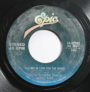 CRYSTAL GAYLE/THE CHARLIE DANIELS BAND 45 RPM FALLING IN LOVE FOR THE NIGHT / SWEET HOME ALABAMA