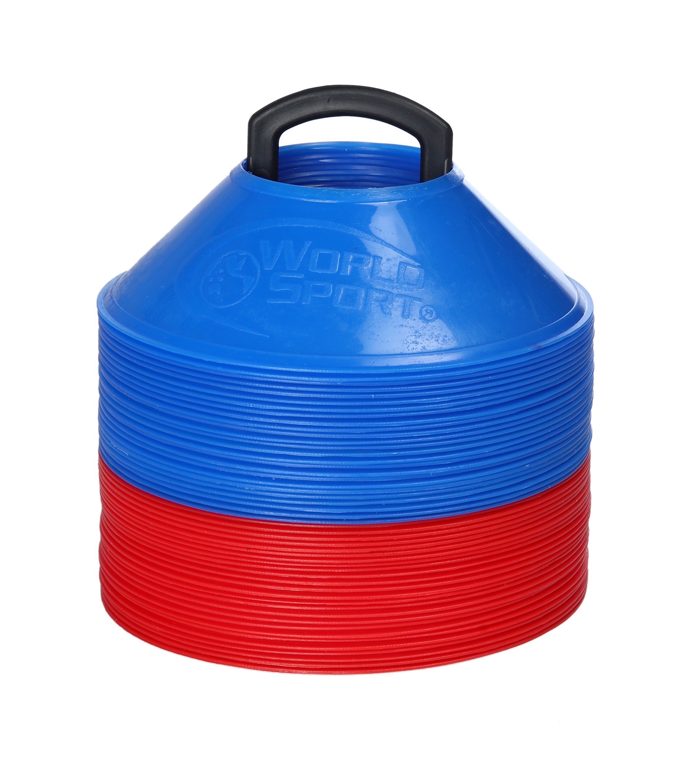 World Sport MINI Disc Cones 25 Red / 25 Blue (50 Pack)