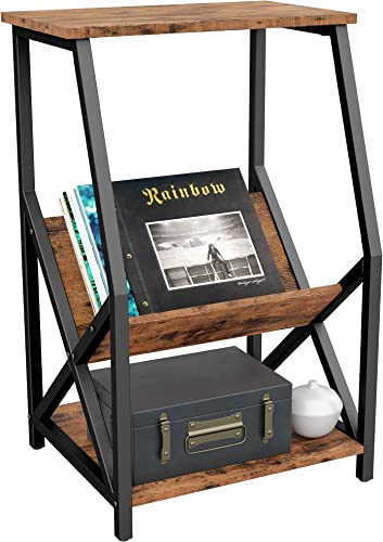 IRONCK Tall 3 Tier Side Table 22″ L18 W34.2 H