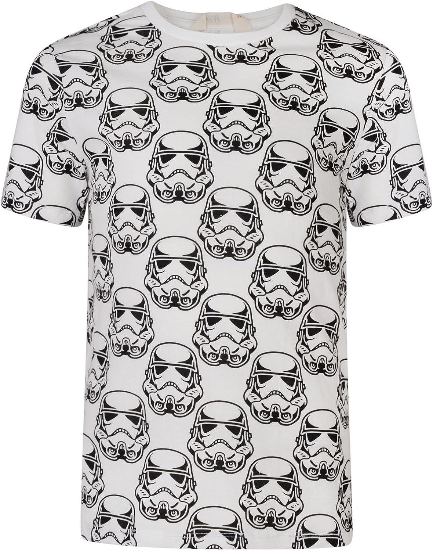 Ex-Store Boys T Shirt Star Wars Stormtrooper Short Sleeve Top 2-10Y White