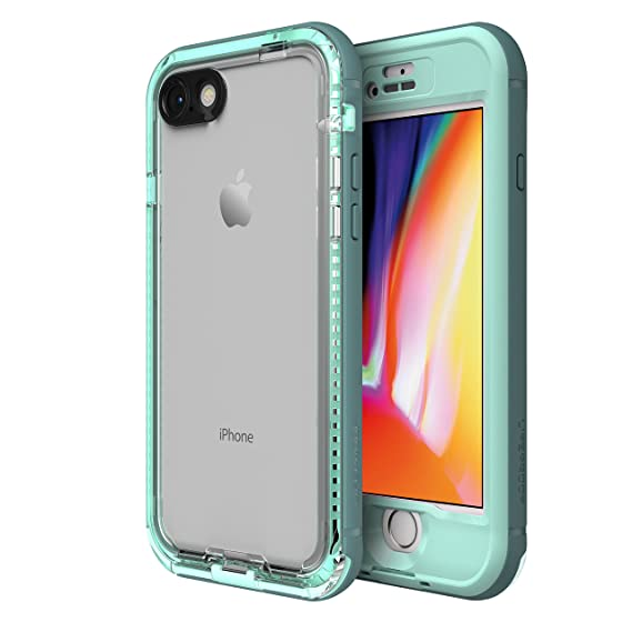 best loved 36fdf 802f7 LifeProof NÜÜD Series Waterproof Case for iPhone 8 (ONLY) - Retail  Packaging - Cool Mist (Aqua SAIL/Aquifer/Clear)