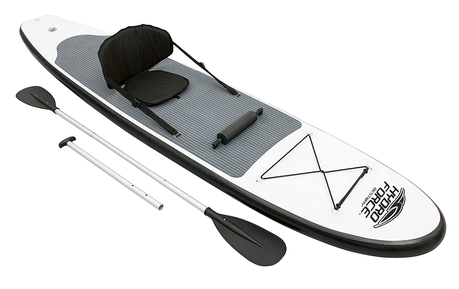 Bestway 65054 - Tabla Paddle Surf Bestway WaveEdge SUP & Kayak (310 x 68 x 10 cm) - Remo de aluminio, asiento ajustable, bolsa de transporte e ...