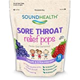 SoundHealth Children's Sore Throat Relief Pops, 15 Count (Pack of 4)