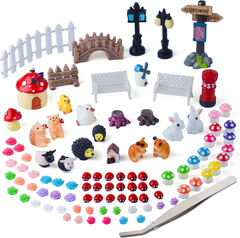 Including Miniature Fairy Garden House DIY Dollhouse Ornaments ...
