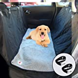 """Ultimate Dog Car Seat Cover Hammock with Detachable Fleece Mat -Machine Washable – 54"""" X 58"""" plus side flaps - Fits Cars SUVs and Trucks – – Waterproof Non Slip Back"""
