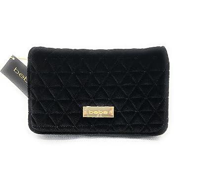 b7c80e4094 bebe Margeaux Crossbody Bag in Black Quilted Velvet, Handbag, Purse, Clutch