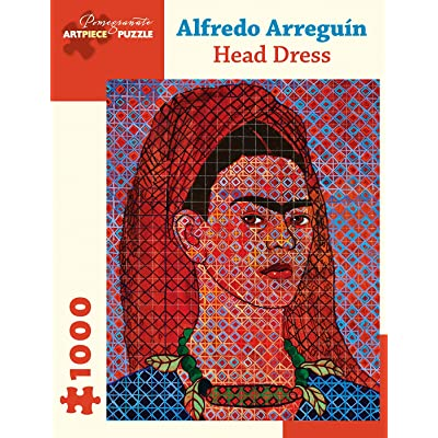"Alfredo Arreguin: Head Dress 1000-Piece Jigsaw Puzzle (Pomegranate) 20"" x 25"": Toys & Games"