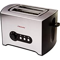 Butterfly ST 02 900-Watt 2-Slice Pop-up-Toaster (Silver/Black)