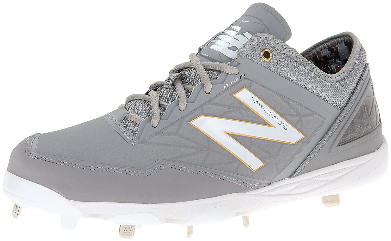 New Balance Men's MBB Minimus Low Baseball Shoe B00IYD3VTM 7 D(M) US Grey/White
