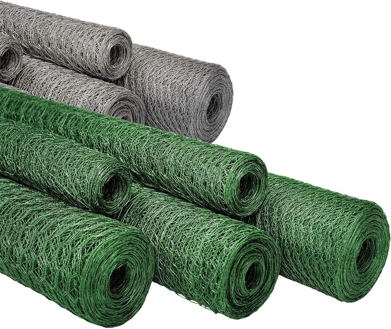 Tidyard Malla Alambre Animales Alambrada de gallinero Acero Revestimiento PVC Verde 10x0,5 m