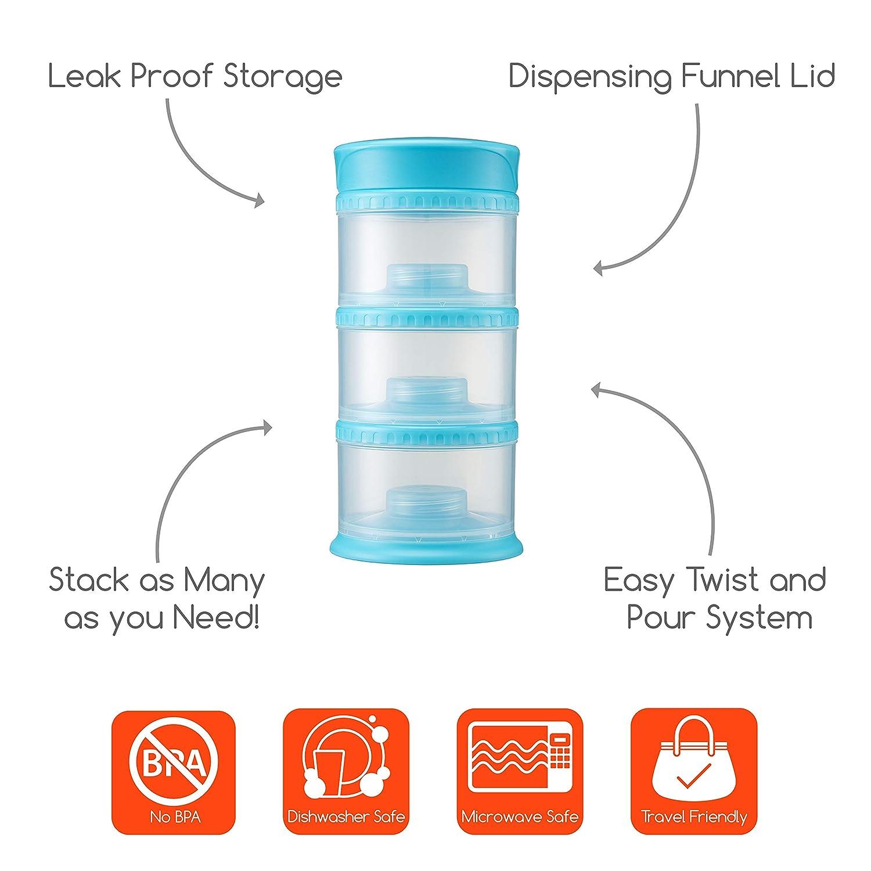 White Innobaby PACKIN Smart Twistable 3 Tier Essential All-in-One Storage