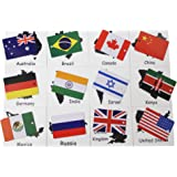 Amazon montessori early childhood educational materials country flag match montessori geography materials continent box gumiabroncs Choice Image