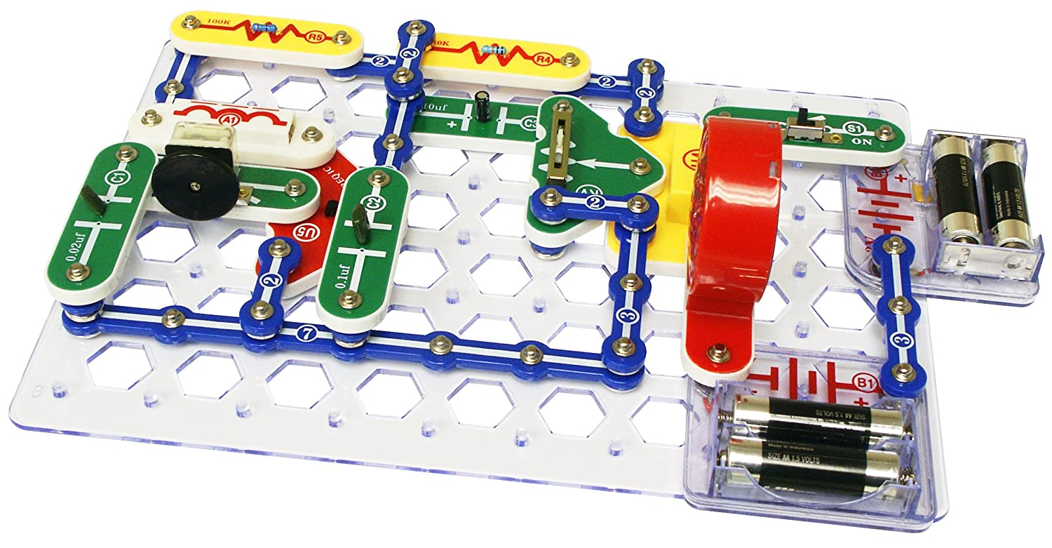 Snap Circuits Classic Sc 300 Electronics Exploration Kit Further Tone Generator Circuit As Well Fire Alarms Over Stem Projects 4 Color Project Manual 60 Modules Unlimited Fun