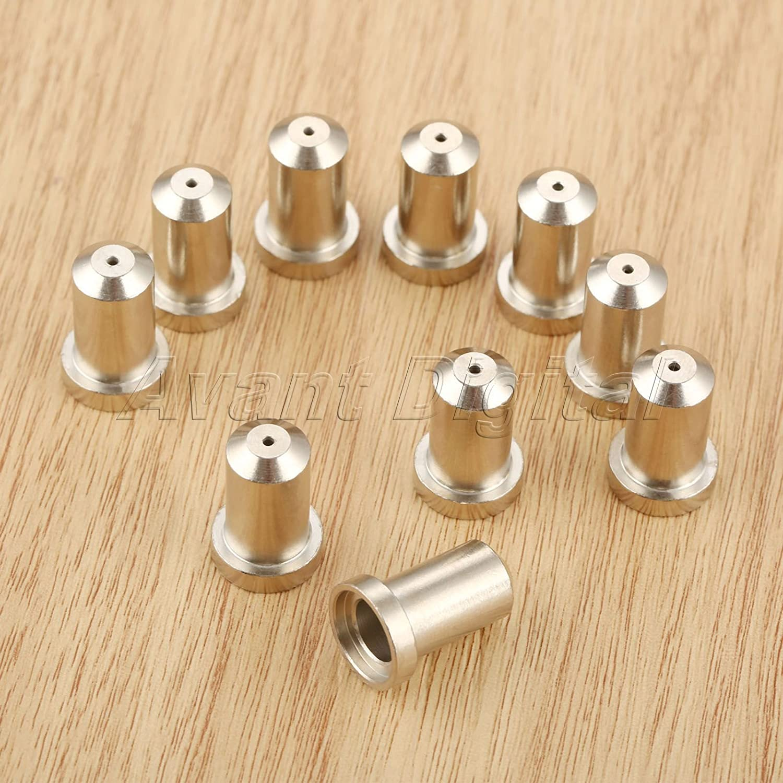 10X Hi-quality Plasma Torch Consumables 33418 Tips Nozzle 80Amp for PT-23 PT-27