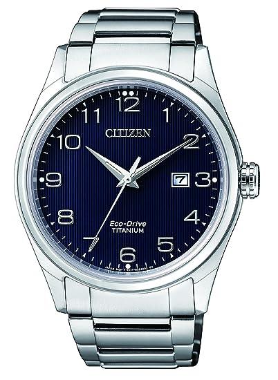 Citizen Reloj Análogo clásico para Hombre de Energía Solar con Correa en Titanio BM7360-82M