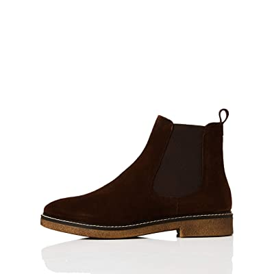 Amazon Brand - find. Women's Chelsea Boots, Brown Chocolate), US 7.5: Shoes