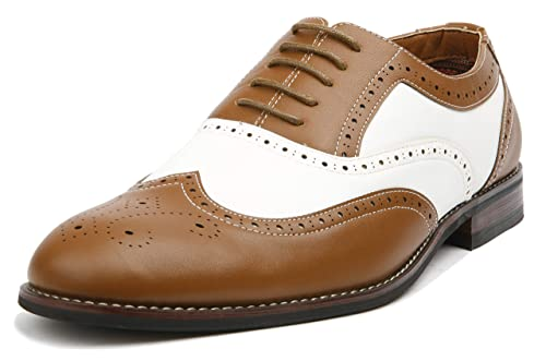 Dress Brown Wingtip Shoes Modern Causal Aldo Ferro Zapatos Brogue 10 Spectator White Mens wA6qq8txv