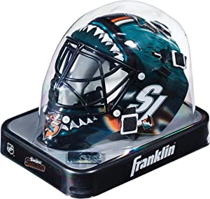 San Jose Sharks Unsigned Franklin Sports Replica Mini Goalie Mask - Unsigned Mask