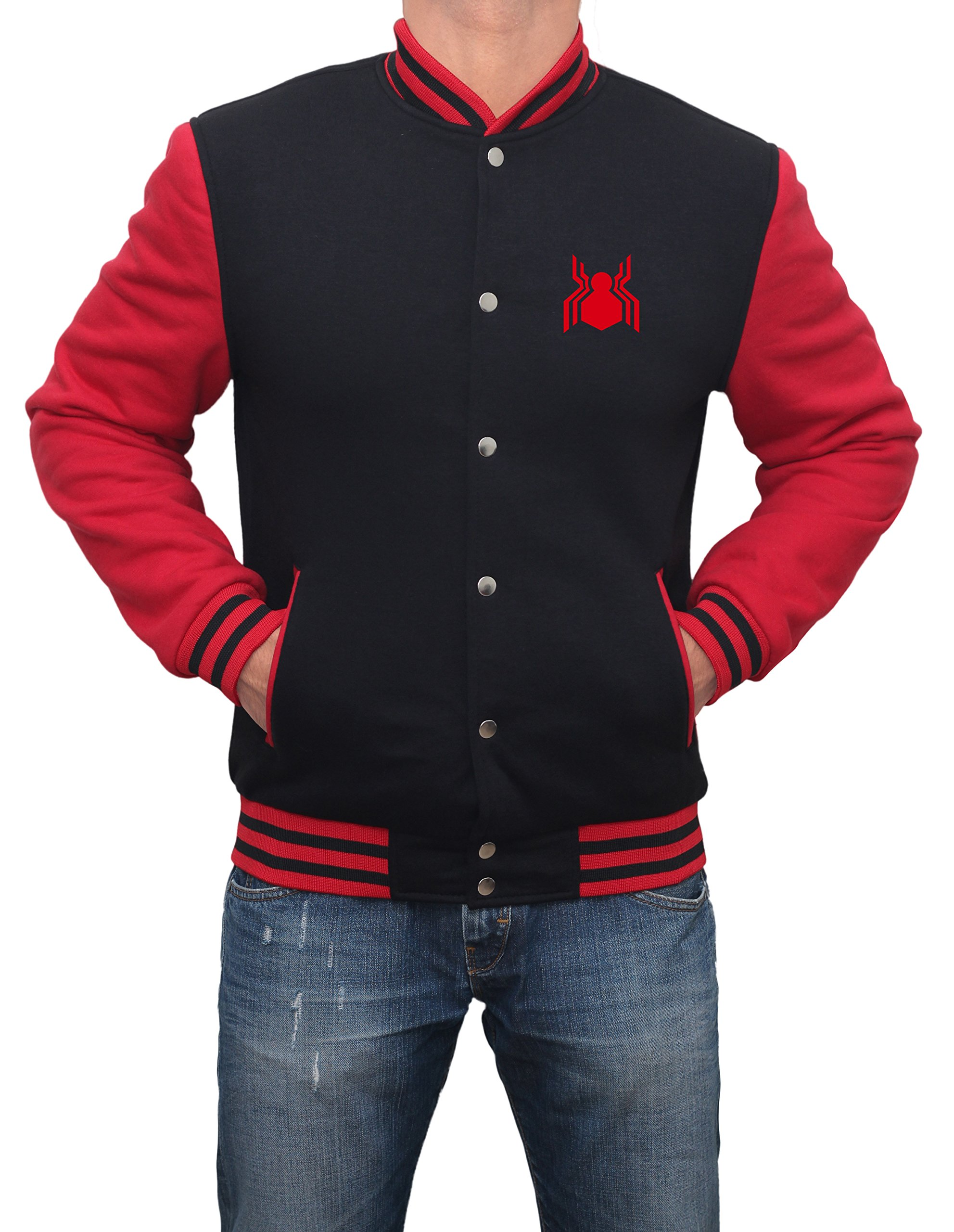 Mens Spider Man Logo Varsity Jacket | M by Decrum