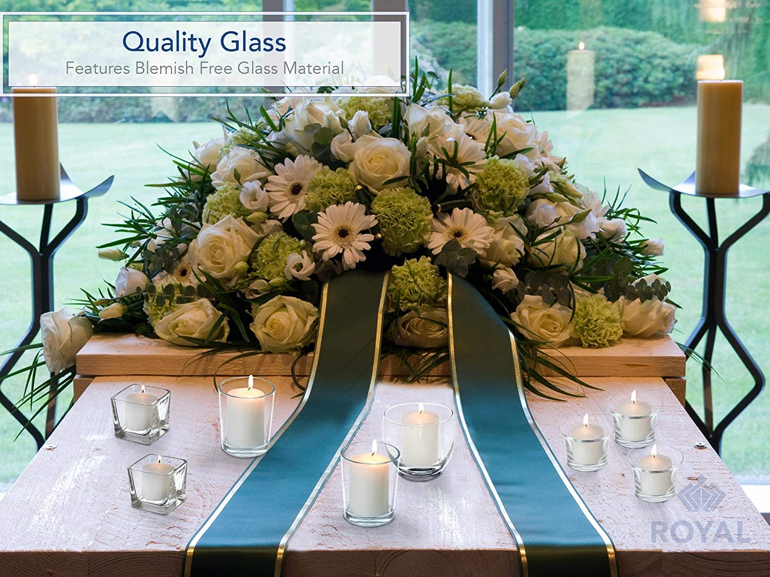 Birthday Roly Poly Unfilled Candle Holder Glass Votive for Wedding Set of 6 Holiday /& Home Decoration by Royal Imports