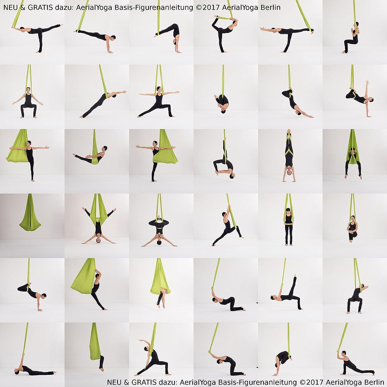 GS gepr/üfte Sicherheit aus Deutschland Decken Anker viele Farben /& Varianten AerialX Aerial Yoga Fitness Tuch Set