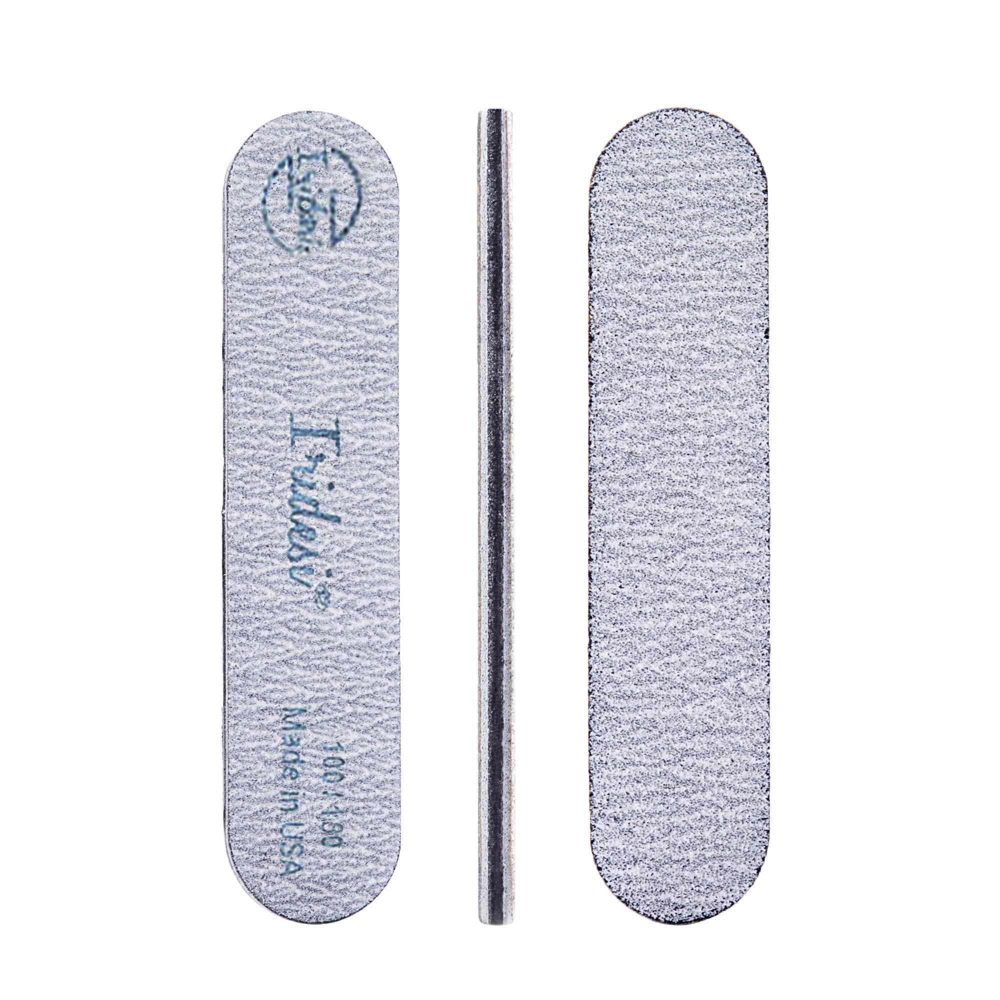 Iridesi Mini Zebra Nail File 100 180 Emery Boards 3.5 Inches Long By .75 Inches Wide Fingernail Filers Per Pack 50 by Iridesi