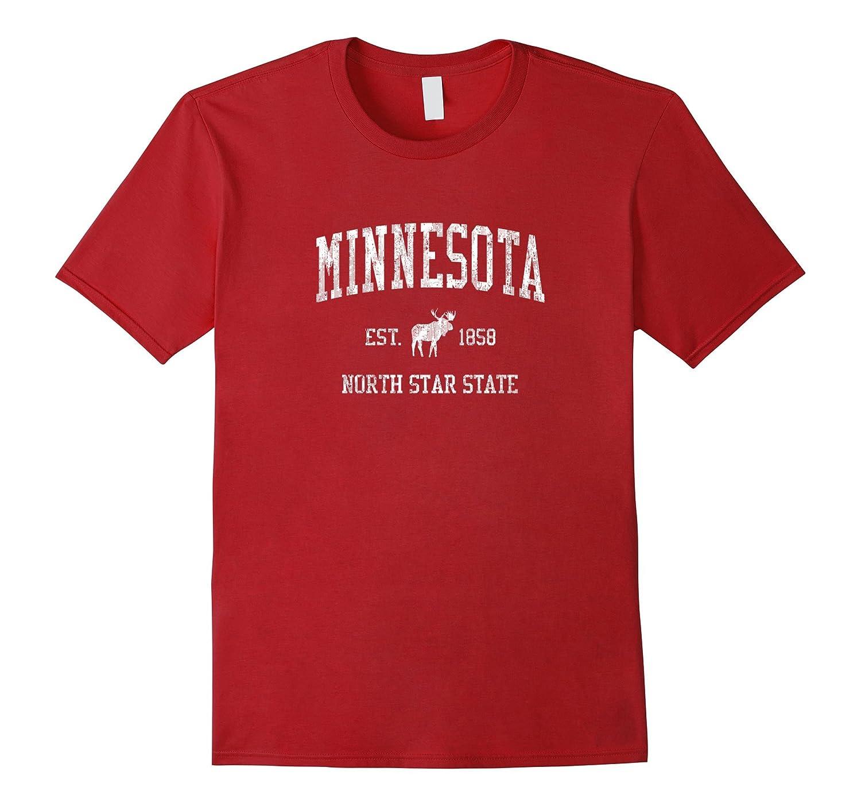 Minnesota T Shirt Vintage Sports Mn Moose Design Tee Bn Banazatee
