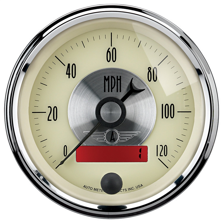 Auto Meter 2087 Prestige Antique Ivory 3-3//8 0-120 mph Programmable LCD Speedometer Gauge