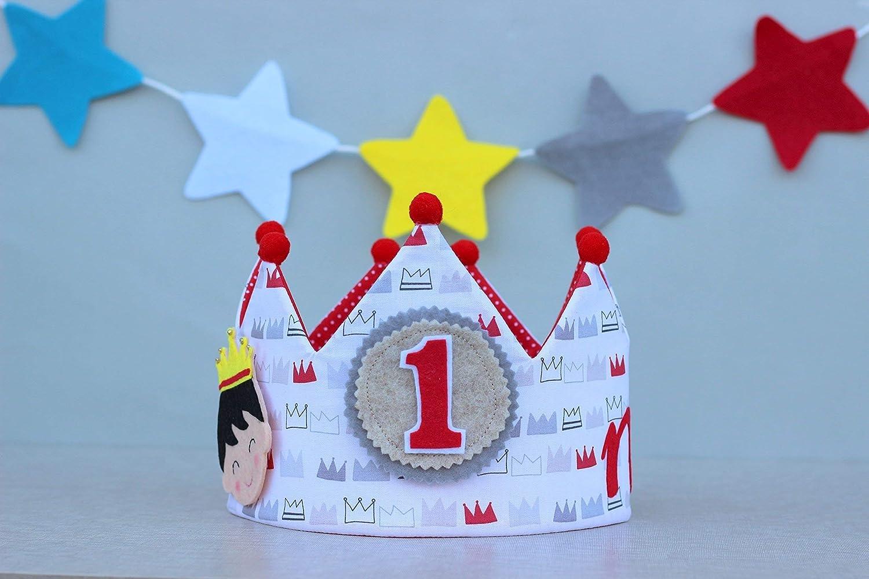 Corona de cumpleaños personalizada, regalo de cumpleaños niño príncipe