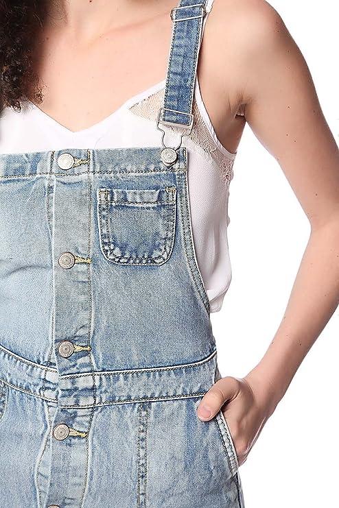 f81d71cfcf Q2 Mujer Vestido estilo pichi vaquero a media pierna con detalle de botones  - XS  Amazon.es  Ropa y accesorios
