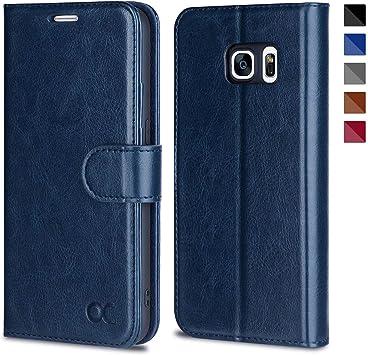 OCASE Funda Samsung Galaxy S7 Funda Galaxy S7 con Protector de Pantalla de Vidrio Templado, Ranuras para Tarjetas, Soporte Plegable y Cierre Magnético: Amazon.es: Electrónica
